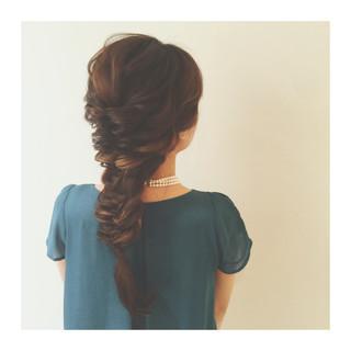 編み込み ヘアアレンジ 夏 大人かわいい ヘアスタイルや髪型の写真・画像 ヘアスタイルや髪型の写真・画像