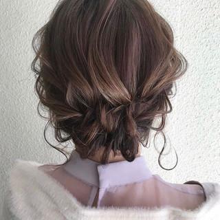 ヘアアレンジ 簡単ヘアアレンジ ボブ 黒髪 ヘアスタイルや髪型の写真・画像 ヘアスタイルや髪型の写真・画像