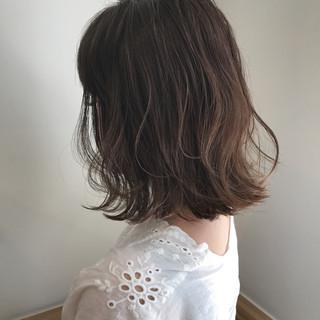 秋 ボブ ハイライト 外ハネ ヘアスタイルや髪型の写真・画像