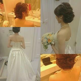 夜会巻 大人かわいい ヘアアレンジ ゆるふわ ヘアスタイルや髪型の写真・画像 ヘアスタイルや髪型の写真・画像