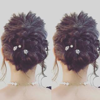 デート ミディアム 結婚式 女子会 ヘアスタイルや髪型の写真・画像