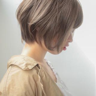 ショート ナチュラル 色気 似合わせ ヘアスタイルや髪型の写真・画像