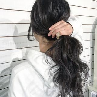 ナチュラル デート ロング 黒髪 ヘアスタイルや髪型の写真・画像