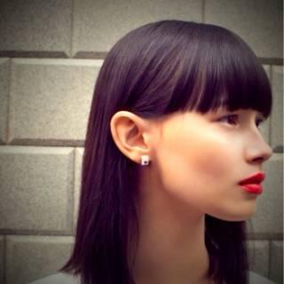 モード 外国人風 抜け感 セミロング ヘアスタイルや髪型の写真・画像