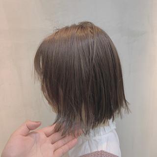 ボブ グレージュ 外国人風カラー ラベンダーグレージュ ヘアスタイルや髪型の写真・画像