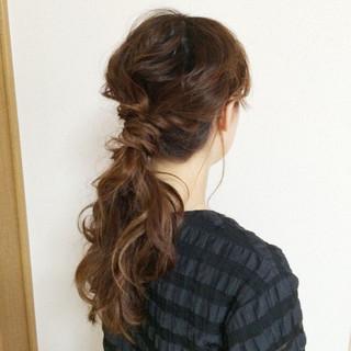 簡単ヘアアレンジ ハーフアップ アッシュ ヘアアレンジ ヘアスタイルや髪型の写真・画像