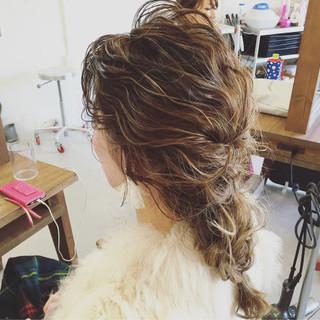 セミロング 簡単ヘアアレンジ 大人かわいい ヘアアレンジ ヘアスタイルや髪型の写真・画像 ヘアスタイルや髪型の写真・画像