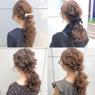 ナチュラル ロング デート ヘアアレンジ ヘアスタイルや髪型の写真・画像 ヘアスタイルや髪型の写真・画像
