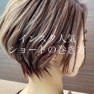 ミニボブ ショートボブ ショートヘア 小顔ショート ヘアスタイルや髪型の写真・画像