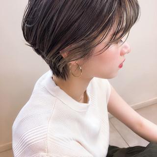 インナーカラー 外国人風カラー バングインナーカラー アンニュイほつれヘア ヘアスタイルや髪型の写真・画像