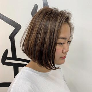 大人ハイライト ハイライト ボブ 3Dハイライト ヘアスタイルや髪型の写真・画像