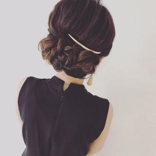 ヘアアレンジ 結婚式 こなれ感 ショート ヘアスタイルや髪型の写真・画像