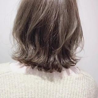イルミナカラー ボブ 外国人風 ゆるふわ ヘアスタイルや髪型の写真・画像