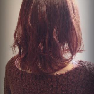 ベリーピンク デート ボブ ベリー ヘアスタイルや髪型の写真・画像