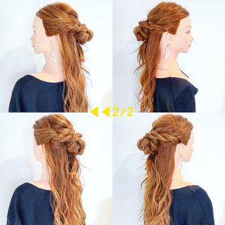ヘアアレンジ ロング 簡単ヘアアレンジ フェミニン ヘアスタイルや髪型の写真・画像 ヘアスタイルや髪型の写真・画像