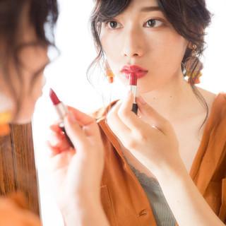 ヘアアレンジ デート 簡単ヘアアレンジ ゆるふわ ヘアスタイルや髪型の写真・画像