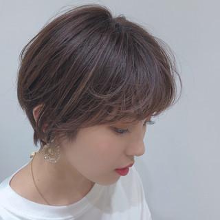 ショートヘア 透明感カラー ナチュラル ショート ヘアスタイルや髪型の写真・画像