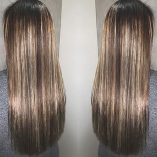 エレガント 外国人風 アッシュ グラデーションカラー ヘアスタイルや髪型の写真・画像