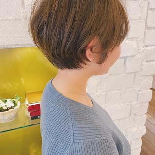 切りっぱなしボブ ミニボブ ショートヘア ベリーショート ヘアスタイルや髪型の写真・画像