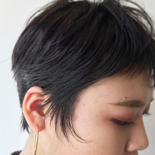 ナチュラル ウェットヘア ヘアアレンジ ショート ヘアスタイルや髪型の写真・画像