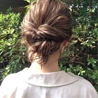 フェミニン パーティ 簡単ヘアアレンジ 結婚式 ヘアスタイルや髪型の写真・画像