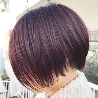 前下がり ストリート 艶髪 ショート ヘアスタイルや髪型の写真・画像