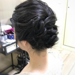 結婚式 ヘアアレンジ アップバング お呼ばれヘア ヘアスタイルや髪型の写真・画像