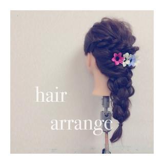 ショート ヘアアレンジ 簡単ヘアアレンジ ロング ヘアスタイルや髪型の写真・画像