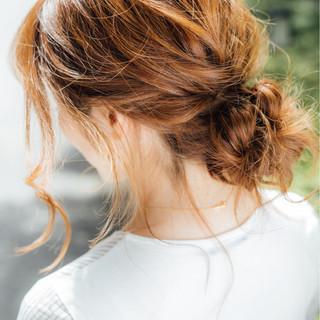 簡単ヘアアレンジ セミロング ヘアアレンジ パーティ ヘアスタイルや髪型の写真・画像