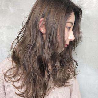 グレージュ ナチュラル セミロング 簡単ヘアアレンジ ヘアスタイルや髪型の写真・画像 ヘアスタイルや髪型の写真・画像