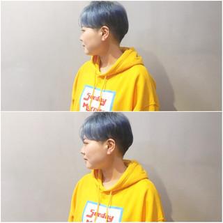 簡単ヘアアレンジ ショートボブ ショート マッシュウルフ ヘアスタイルや髪型の写真・画像