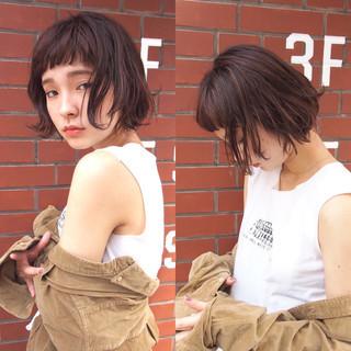 ウェットヘア ナチュラル 大人かわいい ショート ヘアスタイルや髪型の写真・画像