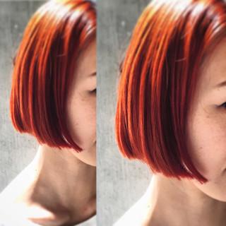大人かわいい ボブ ハイライト 外国人風 ヘアスタイルや髪型の写真・画像