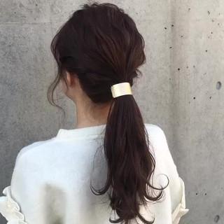 表参道 アンニュイほつれヘア ガーリー グレージュ ヘアスタイルや髪型の写真・画像 ヘアスタイルや髪型の写真・画像