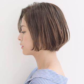 パーマ ボブ ナチュラル 簡単ヘアアレンジ ヘアスタイルや髪型の写真・画像