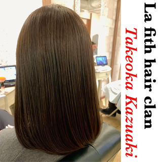 インナーカラー 透明感 ナチュラル ミディアム ヘアスタイルや髪型の写真・画像