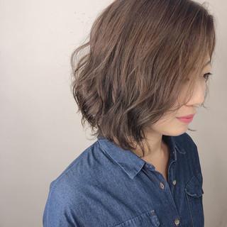 透明感カラー ショートボブ 外国人風カラー ミニボブ ヘアスタイルや髪型の写真・画像