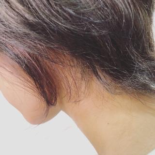 透明感 ミディアム インナーカラー ダブルカラー ヘアスタイルや髪型の写真・画像
