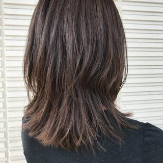 外国人風 グラデーションカラー ブラウン エレガント ヘアスタイルや髪型の写真・画像