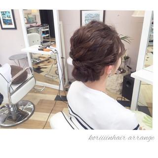 二次会 ヘアアレンジ ボブ 結婚式 ヘアスタイルや髪型の写真・画像 ヘアスタイルや髪型の写真・画像