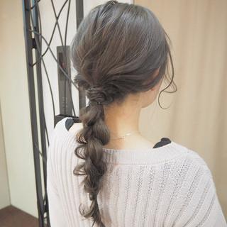 編み込み ショート ロング パーティ ヘアスタイルや髪型の写真・画像