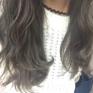 ロング 渋谷系 ハイライト 外国人風カラー ヘアスタイルや髪型の写真・画像