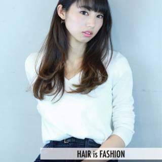コンサバ ロング グラデーションカラー 大人かわいい ヘアスタイルや髪型の写真・画像