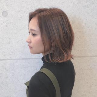ハイライト  外ハネボブ ショート ヘアスタイルや髪型の写真・画像