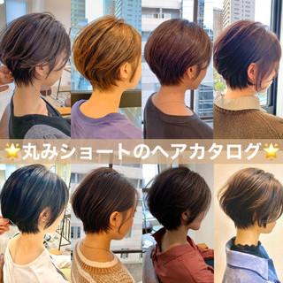 ショートヘア スタイリング動画 ミニボブ ナチュラル ヘアスタイルや髪型の写真・画像