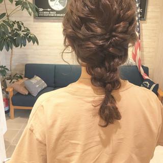 結婚式 ヘアアレンジ ミディアム デート ヘアスタイルや髪型の写真・画像 ヘアスタイルや髪型の写真・画像
