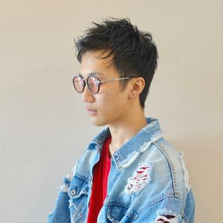 メンズショート アップバング メンズ メンズヘア ヘアスタイルや髪型の写真・画像