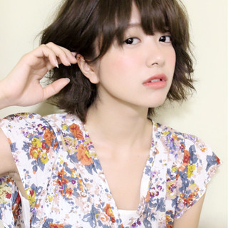 ガーリー ショート 涼しげ 夏 ヘアスタイルや髪型の写真・画像
