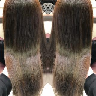 ロング ナチュラル ヘアアレンジ ロブ ヘアスタイルや髪型の写真・画像