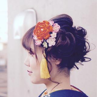 結婚式 謝恩会 成人式 ミディアム ヘアスタイルや髪型の写真・画像 ヘアスタイルや髪型の写真・画像